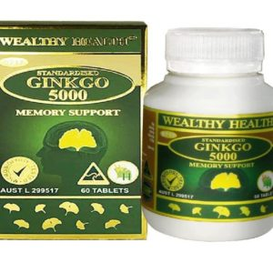 Bổ Não Wealthy Health Ginkgo 5000 60 Tablets