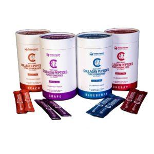 Bột Chuỗi Axit Amin Collagen Peptides Thủy Phân Tinh Khiết với Vitamin C 4 Mùi Hương- Golden Health Collagen Peptides 105g