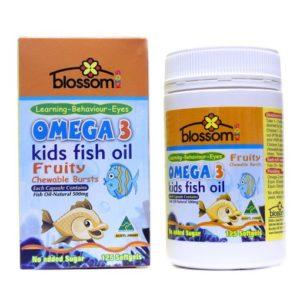 Dầu cá trẻ em Blossom Omega 3 Kids Fish Oil 125 Tablets