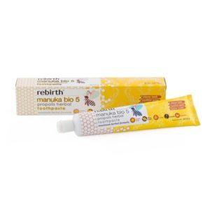 Kem đánh răng tinh chất mật ong manuka - Rebirth Manuka Bio 5 Propolis Herbal Toothpaste (120g)