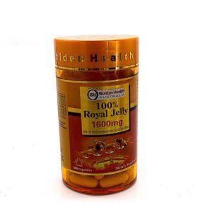 Sữa Ong Chúa Golden health Nguyên Chất 1600mg 6% 10 HDA-Golden health Royal Jelly 1600mg 6% 10HDA- 100 Viên