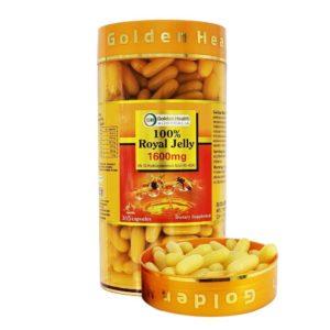 Sữa Ong Chúa Golden health Nguyên Chất 1600mg 6% 10 HDA-Golden health Royal Jelly 1600mg 6% 10HDA- 365 Viên