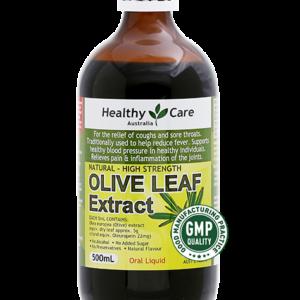 Tinh Dầu Chiết Xuất Từ Lá Oliu Giảm Ho, Đau Họng, Hỗ Trợ Tim Mạch- Olive Leaf Extract 500ml