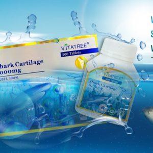 VITATREE - Viên Uống Tái Tạo Sụn Khớp Vi Cá Mập Vitatree Shark Cartilage 1000mg - 200 Viên