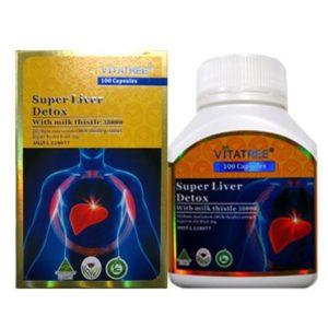 Viên Uống Bổ Gan Giải Độc Gan - Super Liver Detox - 100 Viên