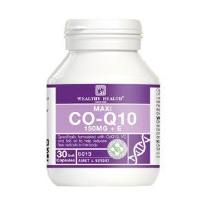Viên Uống Bổ Tim Wealthy Health Maxi CO-Q10 150mg +Vitamin E-30 Viên