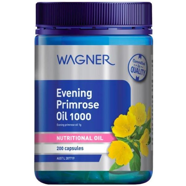 Viên Uống Cân Bắng Nội Tiết Tố Nữ-Tinh Dầu Hoa Anh Thảo-Wagner Evening Primrose Oil 1000 200 Capsules