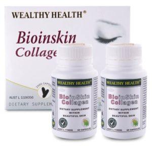 Viên Uống Dưỡng Da Wealthy Health Bioinskin Collagen 2x 60 Capsules