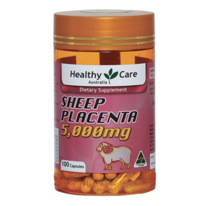 Viên Uống Nhau Thai Cừu Trị Nám, Tàn Nhang, Sáng Da-Healthy Care Sheep Placenta 5000mg 100 Viên