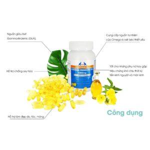 Viên Uống Tinh Dầu Hoa Anh Thảo Điều Hòa Nội Tiết Tố Hãng AuGoldHealth - Evening Primrose Oil 1000Mg - 100 Viên