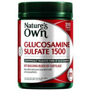 Viên uống hỗ trợ xương khớp Nature's Own Glucosamine 1500mg 200 viên