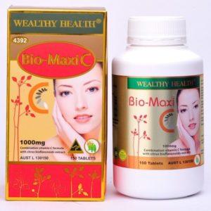 Wealthy Health Bio Maxi C 150 Tablets- Vitamin C cao cấp