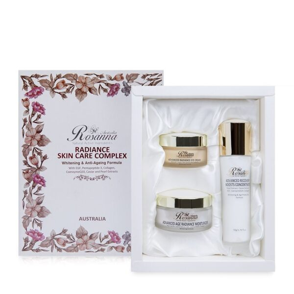 Bộ sản phẩm dưỡng trắng và chống lão hóa da Rosanna Radiance Skin Care Complex