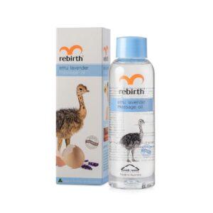 Dầu Xoa Bóp Đà Điểu Giảm Đau Nhức, Giảm Stress, Cải Thiện Lưu Thông Máu-Emu Lavender Massage Oil Rebirth 125ml