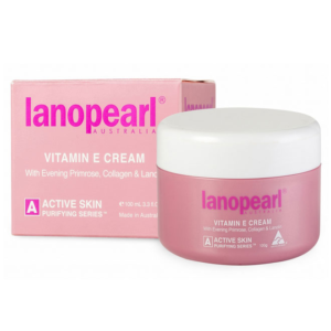 Kem Dưỡng Da, Tái Tạo Da-Lanopearl Vitamin E with Evening Primrose, Collagen & Lanolin 100ml