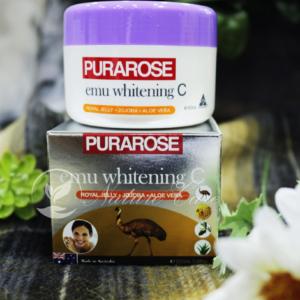 Kem dưỡng da, tẩy tế bào chết, chống lão hóa, làm trắng sáng da-Purarose Emu Whitening C