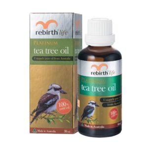 Tinh Dầu Trà Bạch Kim Kháng Viêm, Chống Mụn và Nhiễm Trùng Da-Rebirth Platinum Tea Tree Oil 50ml