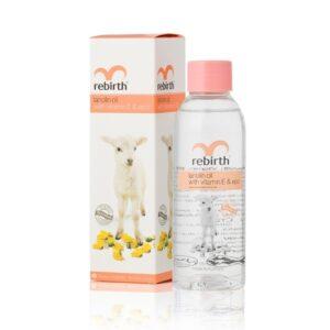 Tinh dầu Lanolin chống nhăn với vitamin E - Rebirth Lanolin Oil with Vitamin E & EPO 125ml