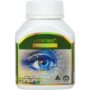 Viên Uống Bổ Mắt Vitatree Bilberry 10000, 60 soft Capsules