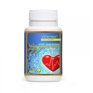 Viên Uống Mega Omega 3,6,9 Plus Q10 Vitatree 120 Capsules