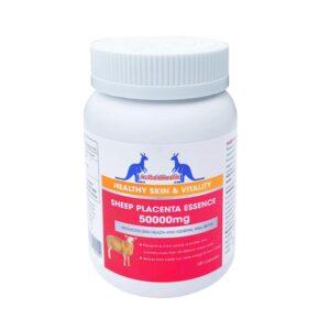 Viên Uống Nhau Thai Cừu Hàm Lượng Cực Cao Trị Nám Tàn Nhang, Làm Đẹp Da-AuGoldHealth Sheep Placenta Essence 50,000mg-100 Viên