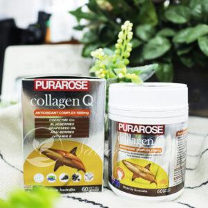 Viên Uống Trắng-Đẹp Da, Chống Lão Hóa Collagen Q Purapose 1000mg 60 Viên
