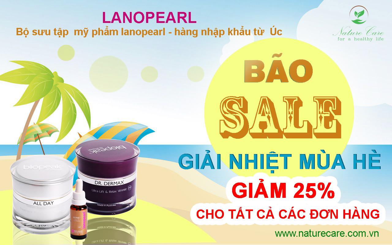bộ sản phẩm lanopearl đến từ úc sale off 25%